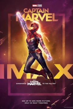 Il poster IMAX di Captain Marvel