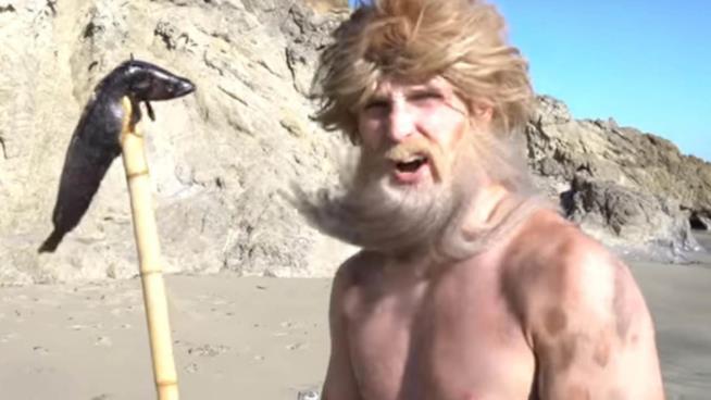 Logan Paul nei panni di un naufrago nel suo vlog del 4 febbraio 2018