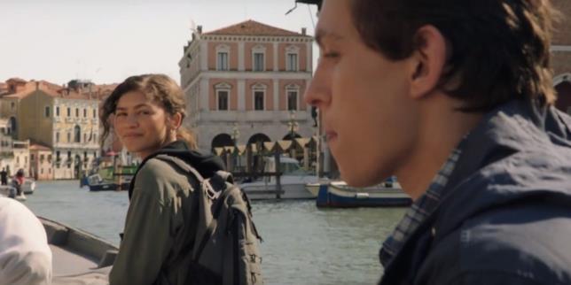MJ e Peter Parker a Venezia in un screen del trailer di Spider-Man: Far From Home