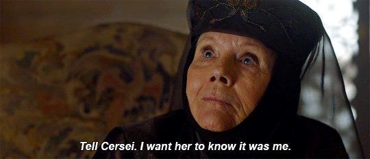 Olenna Tyrell parla con Jaime riguardo l'avvelenamento di Jeoffry