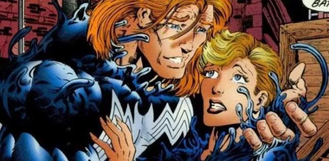 Eddie Brock e Anne Weying in una tavola del fumetto