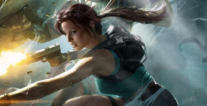 Lara Croft in azione in Lara Croft and the Guardian of Light