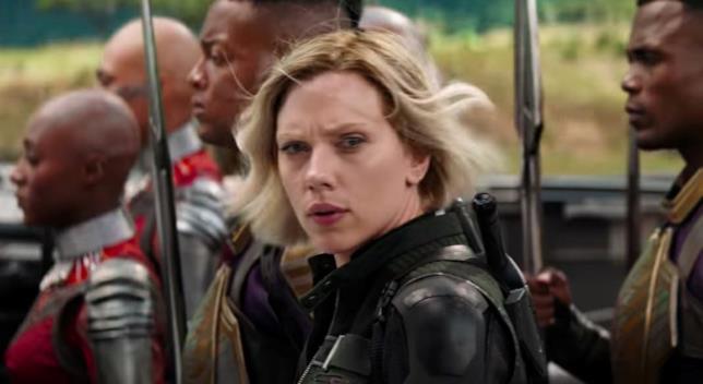 Lo sguardo preoccupato della Vedova Nera nello spot di Infinity War