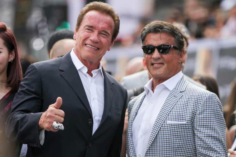 Schwarzenegger e Stallone ad un evento