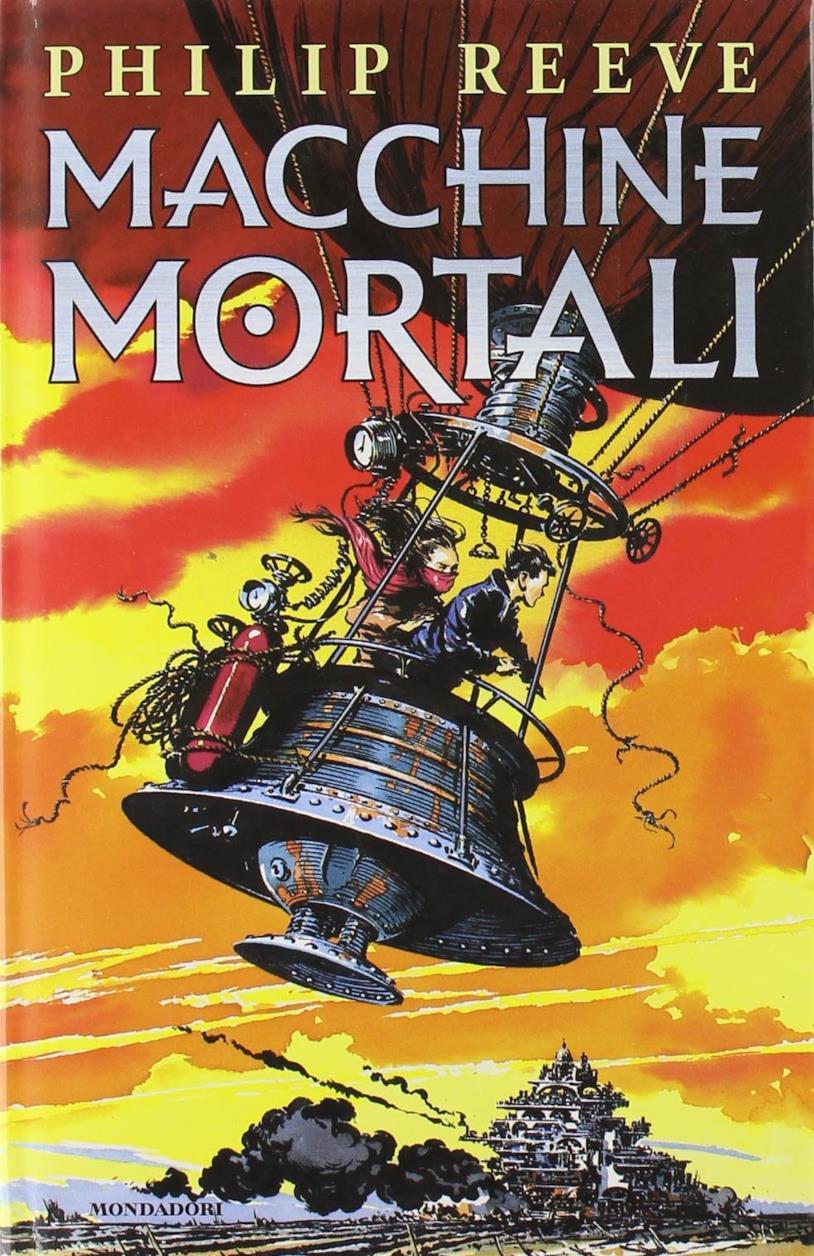 La copertina colorata di Macchine Mortali