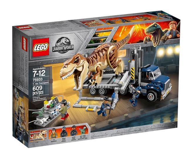 Dettagli del box del set LEGO Trasporto del T. rex