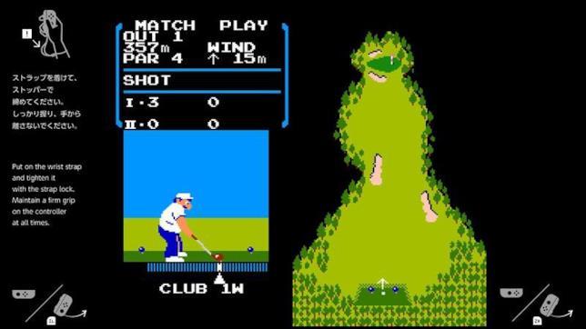 Golf ad 8-bit rivive su Switch
