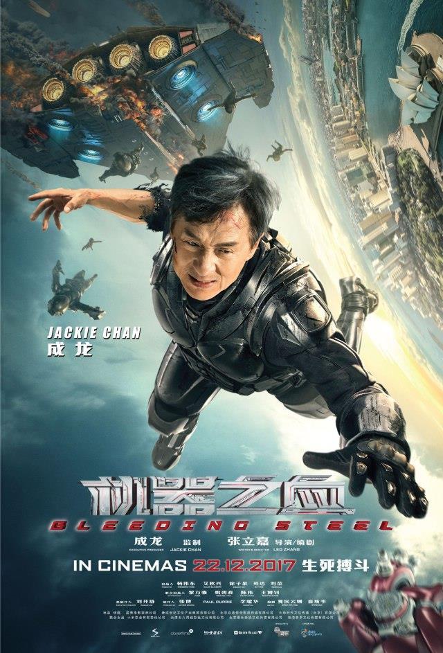 Il poster ufficiale di Bleeding Steel con Jackie Chan