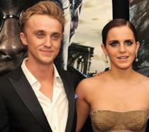 Emma Watson e Tom Felton alla prima di Harry Potter e i Doni della Morte - Parte 2
