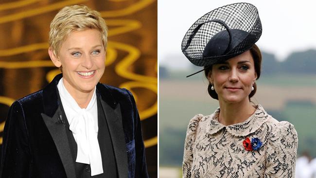 Ellen DeGeneres e Kate Middleton in due scatti ufficiali