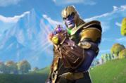 Thanos impugna il Guanto dell'Infinito in Fortnite