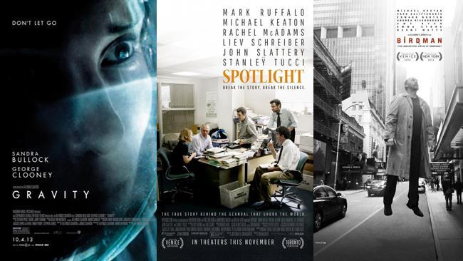 I poster di Gravity, Il caso Spotlight e Birdman