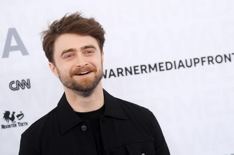 L'attore Daniel Radcliffe sorridente