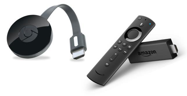 Google Chromecast e Amazon Fire TV Stick