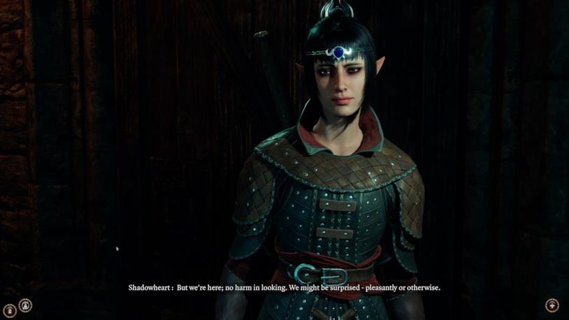 La chierica Shadowheart in Baldur's Gate 3 di Larian Studios