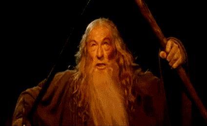 Gandalf impedisce al Balrog di passare