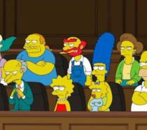 La giuria del tribunale di Springfield in una puntata dei Simpson