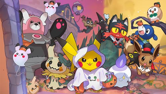 I Pokémon con i loro costumi di Halloween