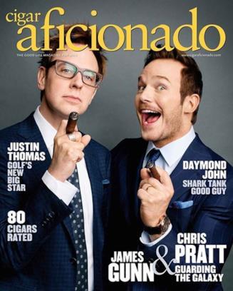 Chris Pratt sulla copertina di Cigar Aficionado