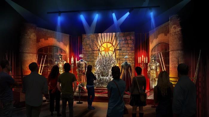 La sala del trono in Game of Thrones: Exhibition Tour