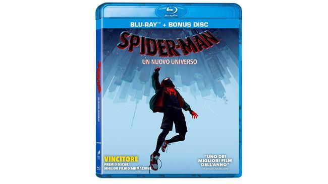 Spider-Man: Un nuovo universo in formato blu-ray con disco bonus