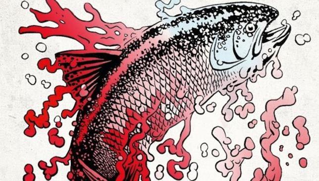 Un pesce sulla copertina del coloring book di Palahniuk
