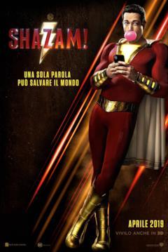 Shazam!, il poster italiano con la data di uscita