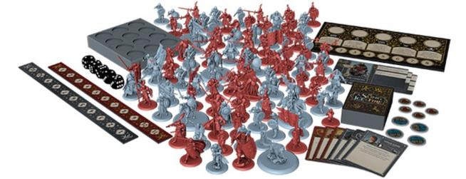 Le miniature del gioco da tavolo