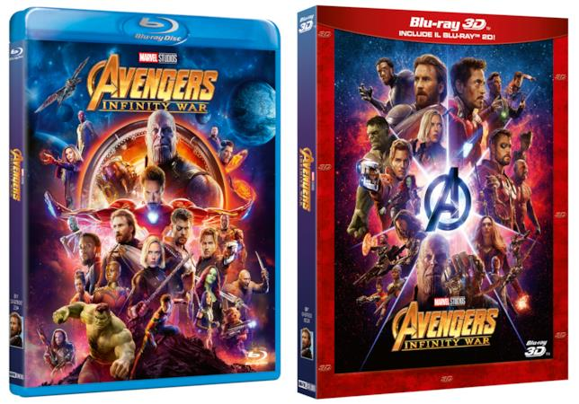 Il Blu-ray e il Blu-ray 3D di Avengers: Infinity War