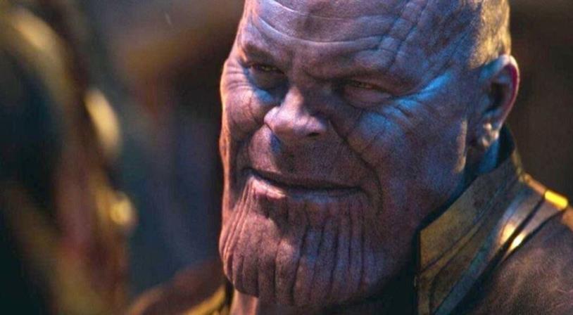 Un primo piano di Thanos, il Titano Pazzo