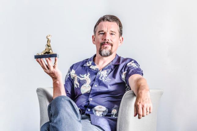 L'attore Ethan Hawke a Locarno