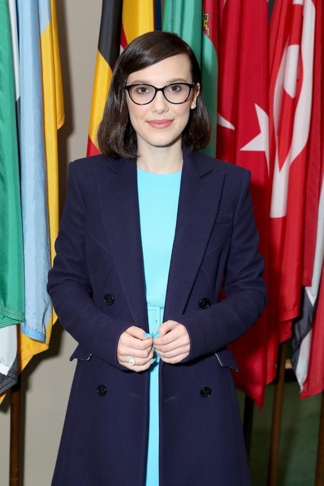 Millie Bobby Brown nel giorno di incarico di Ambassador UNICEF