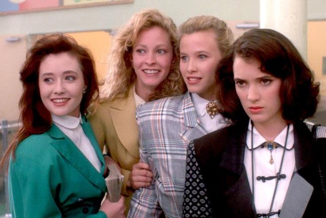 Le tre Heathers con Veronica in Schegge di follia