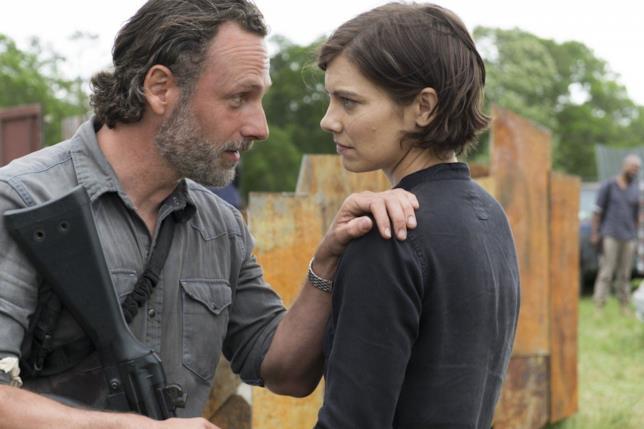 Maggie e Rick in The Walking Dead 8