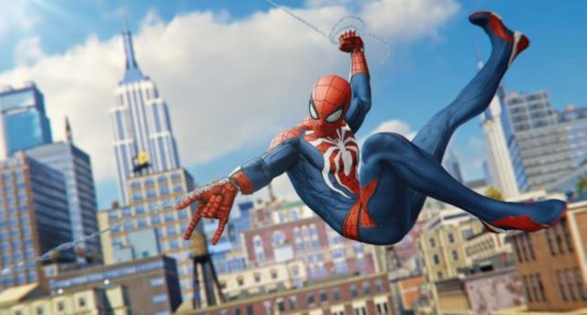 Spider-Man tra i grattacieli della città