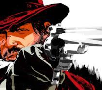 John Marston impugna la sua pistola nel primo RDR