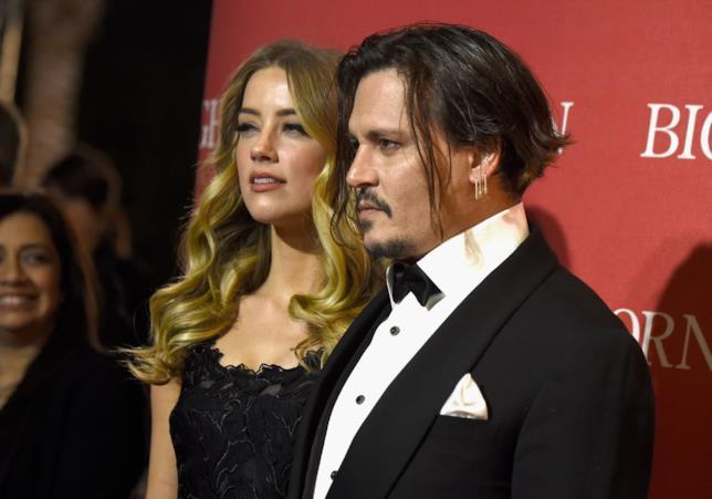 Primo pino di Johnny Depp e Amber Heard