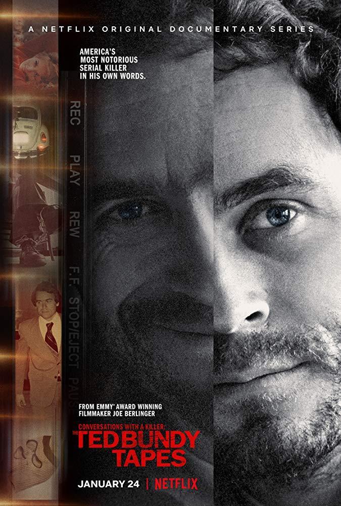 Poster ufficiale della docu-serie Conversazioni con un killer: Il caso Ted Bundy
