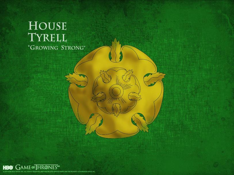 Il motto e lo stemma di Casa Tyrell