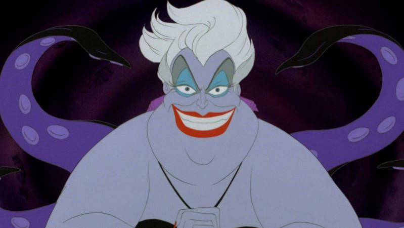 Ursula in una scena de La Sirenetta