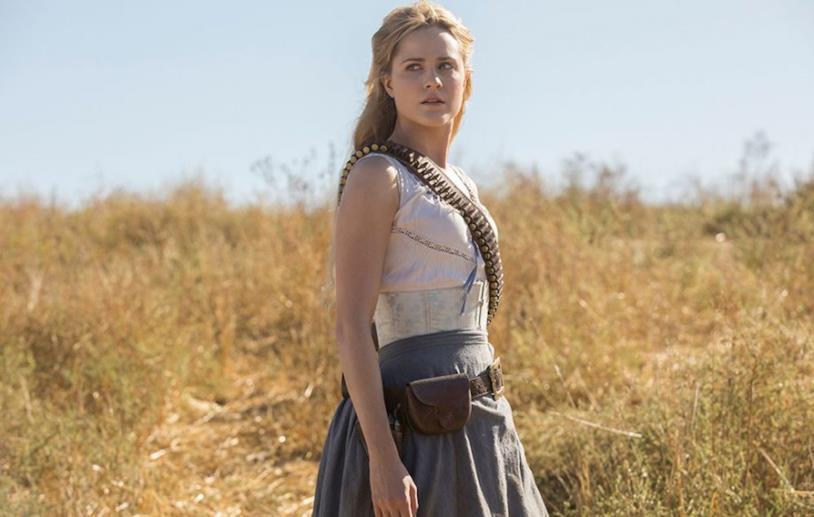 Una sequenza di Westworld con protagonista Dolores