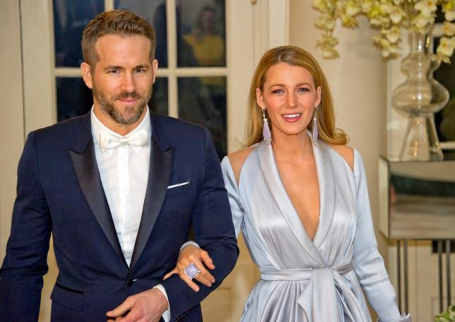 Primo piano di Blake Lively e Ryan Reynolds