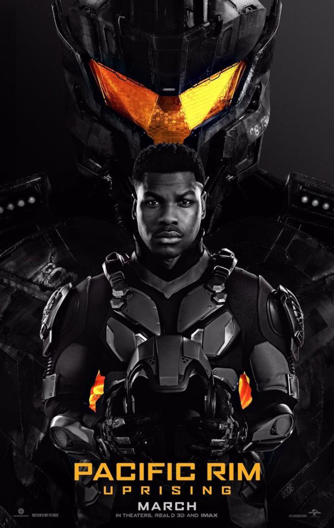 John Boyega nel primo poster ufficiale di Pacific Rim 2 - Go Jaeger
