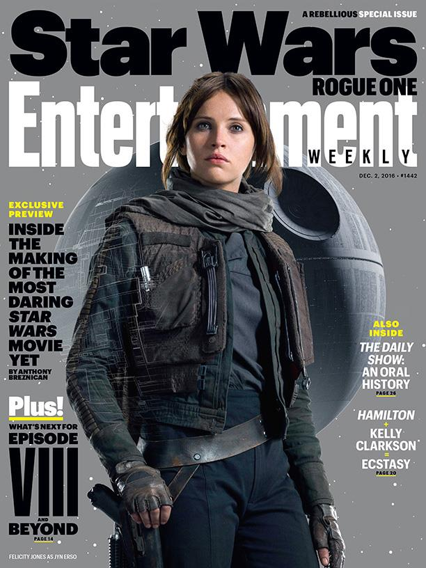 Felicity Jones è Jyn Erso in Star Wars