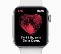 Immagine promozionale per la funzione ECG di Apple Watch Series 4
