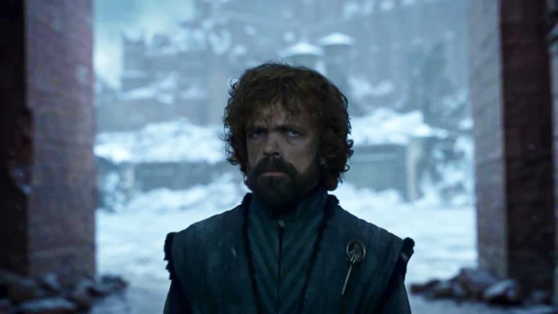 Tyrion tra le macerie di Approdo del Re
