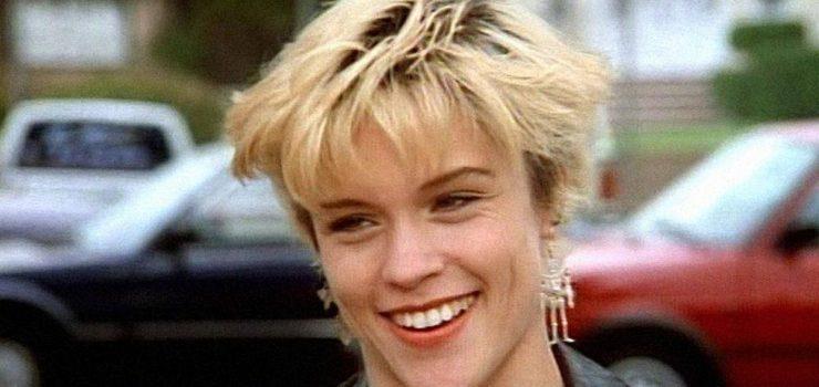 L'attrice Christine Elise nei panni di Emily in Beverly Hills 90210