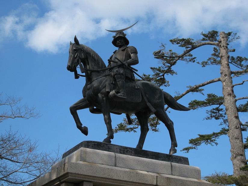 La statua di Date Masamune