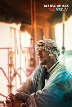 Saïd Taghmaoui nei panni dell'Anziano osserva nel character poster di John Wick 3