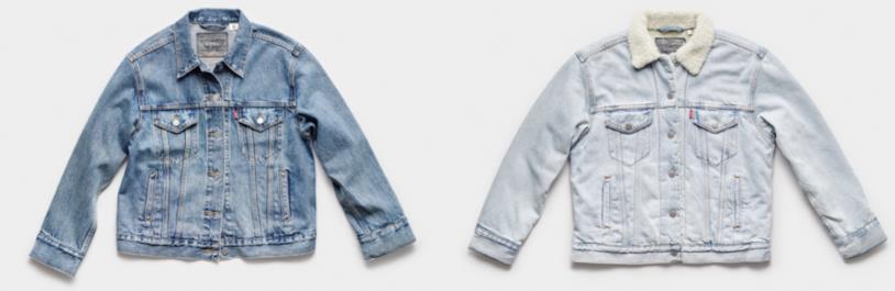 Immagine promozionale con i due lavaggi della Levi's Trucker Jacket